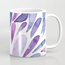 Watercolor artistic drops - purple and indigo Coffee Mug
