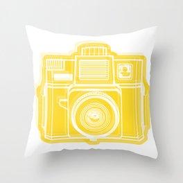 I Still Shoot Film Holga Logo - Sunshine Yellow Throw Pillow