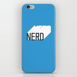 Retro Nerd Blue iPhone Skin