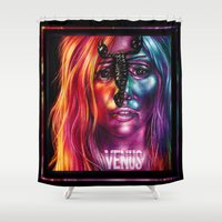 venus Shower Curtains featuring VENUS by Denda Reloaded