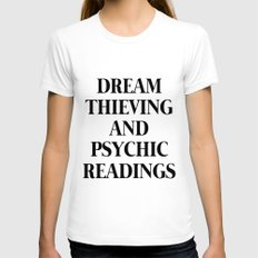 Dream Thieving and Pyschic Readings LARGE White Womens Fitted Tee