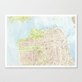 San Francisco CA City Map  Canvas Print