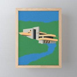 Falling Water Framed Mini Art Print