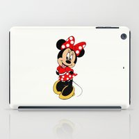 minnie mouse iPad Cases featuring Cute Minnie Mouse by Yuliya L