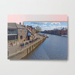 Kings Staith, York, river Ouse. Metal Print