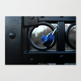 Locked Up with Mr. Blue Canvas Print