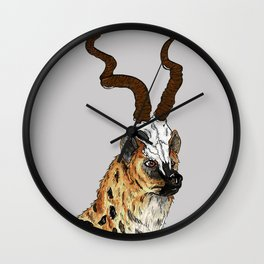 The Hyena King Wall Clock
