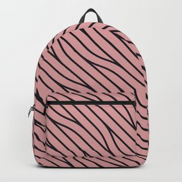 Abstract Wavy Hair Pattern Backpack
