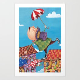 the tightrope walker Art Print