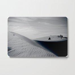 Tourism in the desert. White dunes. Vietnam Metal Print