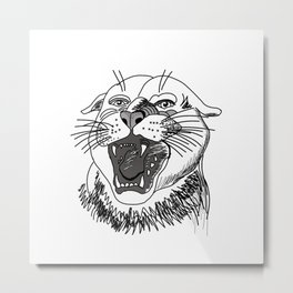 tiger angry growls ( https://society6.com/vickonskey/collection ) . Art Metal Print