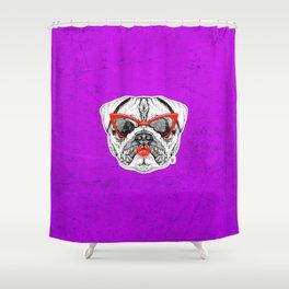 Lady Pug Shower Curtain