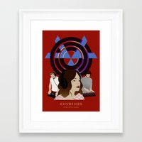 chvrches Framed Art Prints featuring CHVRCHES - The Bones Of What You Believe by Andrea Solenghi