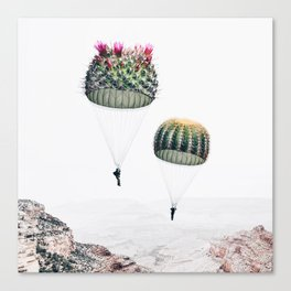 Flying Cacti Canvas Print