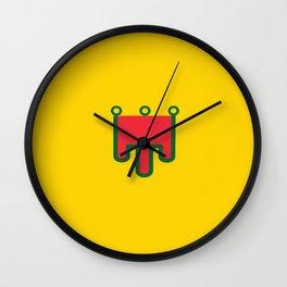 Flag of auvergne Wall Clock