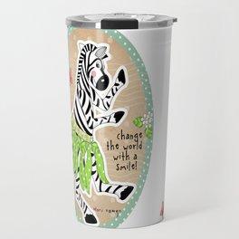 Change the World with a Smile Travel Mug