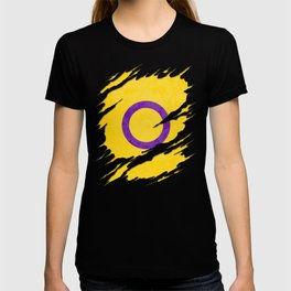Intersex Pride Flag Ripped Reveal T-shirt