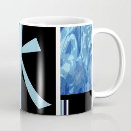 Water Kanji - Mizu in blue Coffee Mug