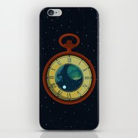 pocket iPhone & iPod Skins featuring Cosmic Pocket Watch by badOdds