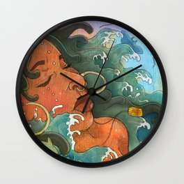 Water Maiden Wall Clock