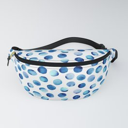 Watercolor Dots // Royal Blue Fanny Pack