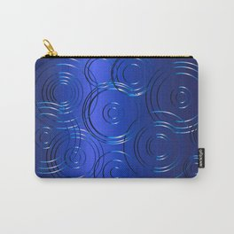 Blue Circle Background Carry-All Pouch
