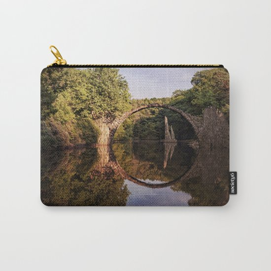 Mystical stone arch- Stonearch History Lake Reflection on #Society6 Carry-All Pouch
