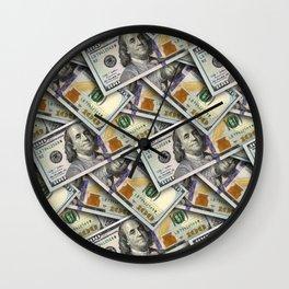 money patten Wall Clock