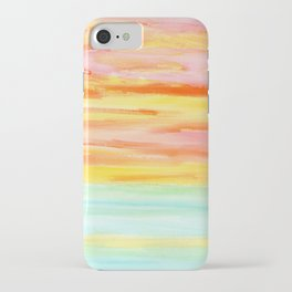 Summer Sunset Abstract Painting Stripes Pattern Modern - Be Yourself And Fall In Love iPhone Case