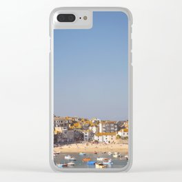 St Ives Harbour. Clear iPhone Case