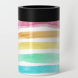 Pastel Watercolour Rainbow art Can Cooler
