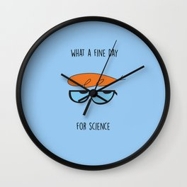Red Tuft Wall Clock