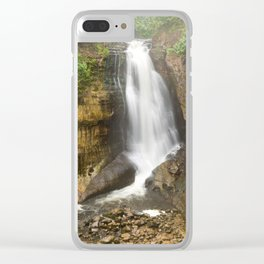 Miners Falls - Pictured Rocks Waterfall, Michigan Clear iPhone Case