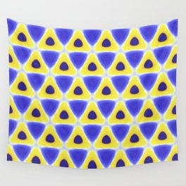 A sea of Triangles Wall Tapestry