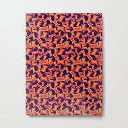 Retro-Inpsired Sugar Packets Geometric Pattern Metal Print
