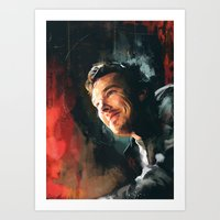 benedict Art Prints featuring Benedict C. by Wisesnail