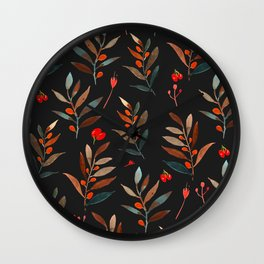 wild warm leaves Wall Clock