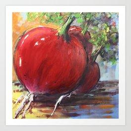 Radishes Art Print