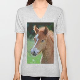 AnimalPaint_Horse_20171201_by_JAMColorsSpecial Unisex V-Neck