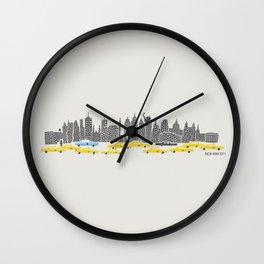 New York City Panoramic Wall Clock