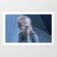 elsa Art Prints featuring Elsa by LindaMarieAnson