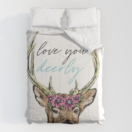 Love You Deerly Comforters