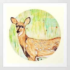 As A Deer Art Print