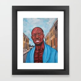 Omar (the Wire) Framed Art Print
