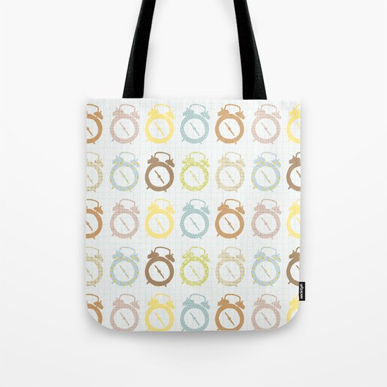clocks pattern Tote Bag