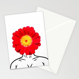 Face Flower Stationery Cards