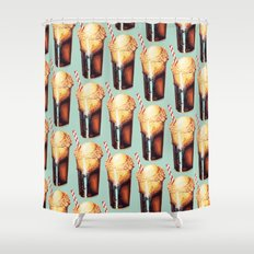 Root Beer Float Pattern Shower Curtain