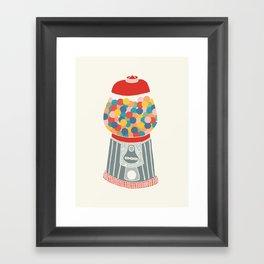 Gum Ball Machine Framed Art Print