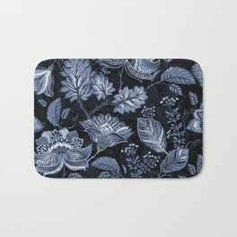 Blooms in the blue night Bath Mat