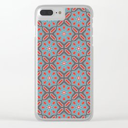 Volcanic Eruption Abstract Print Seamless Pattern Clear iPhone Case